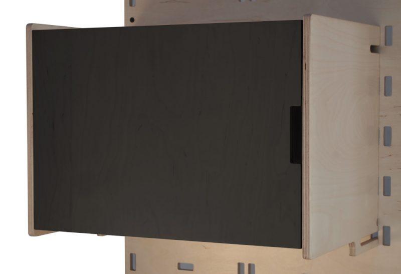 Klik Large Box Shelf Closed Black