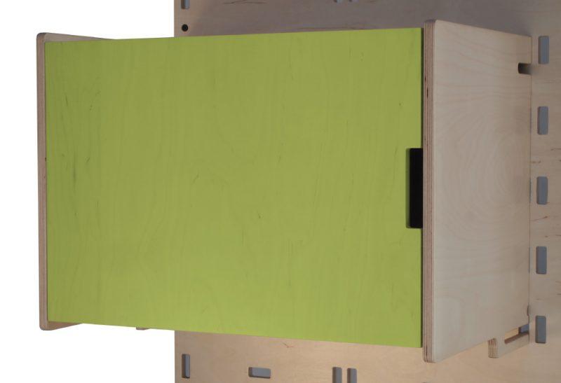 Klik Large Box Shelf Closed Lime Green