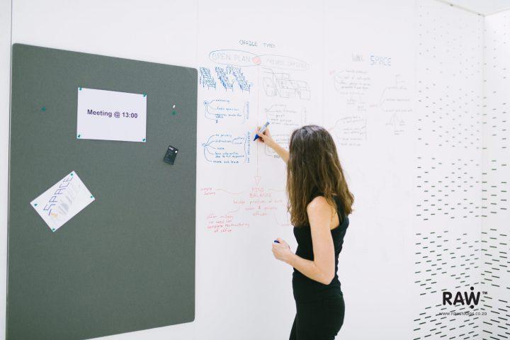 WallSpace modular walling system Office meeting blackboard furniture