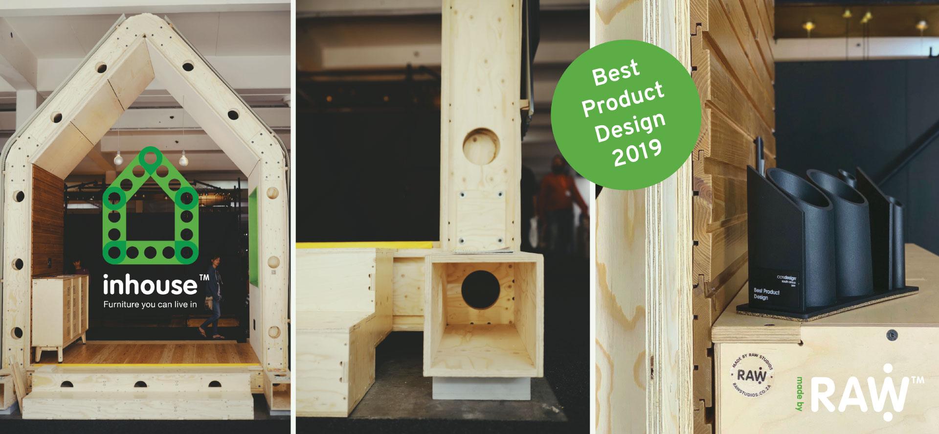 RAW Studios 100% Design 2019 Best Product Design Award Inhouse: Plywood Home