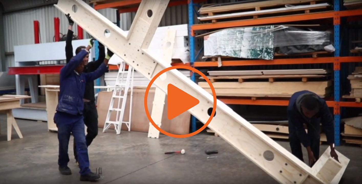 RAW Studios' Inhouse development process modular plywood housing video