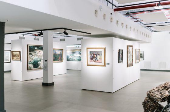Javett Art Centre with Wallspace minimalistic modular exhibition walling system