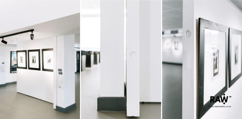 Wallspace minimalistic modular exhibition walling system at Javett Art Centre