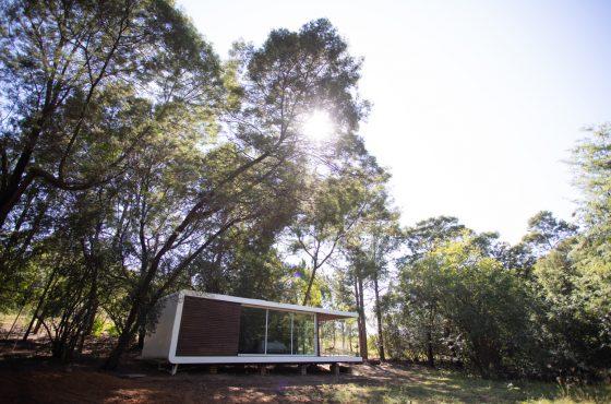 Zenkaya prefab living unit - interior plywood designer furniture